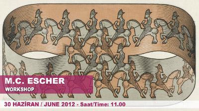 Post image for Escher'in çizimlerindeki matematiği keşfedin